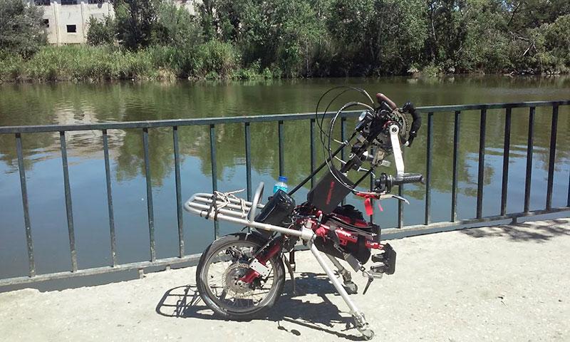 Viaje de Carlos, Handbike Stricker semieléctrica Smart Para