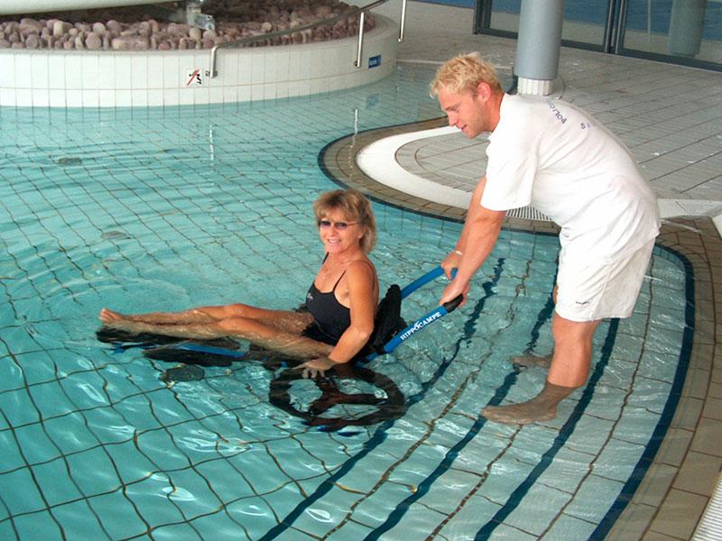 Hippocampe en la piscina