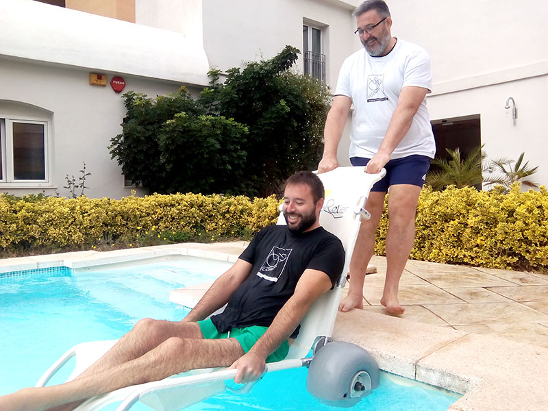 Tumboroller en la piscina