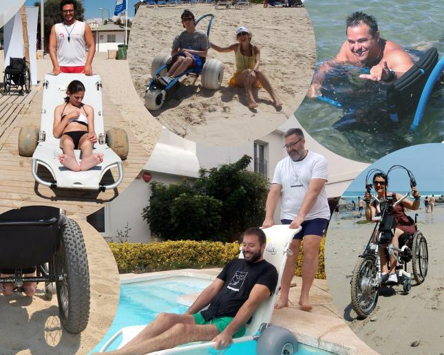 Opciones de movilidad para la playa