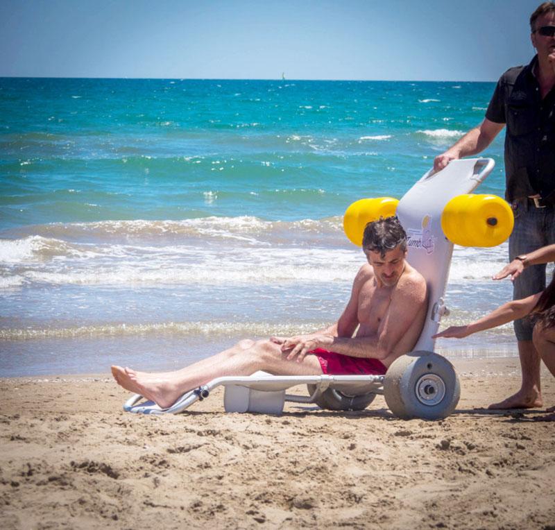 Tumboroller en la playa - sentado