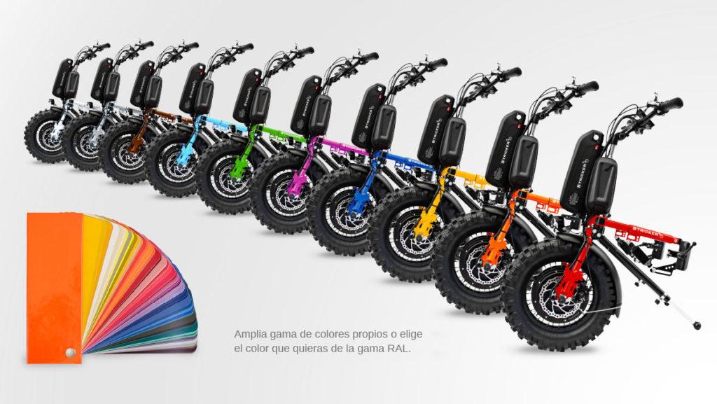 Personaliza tu handbike con el color que más te guste.
