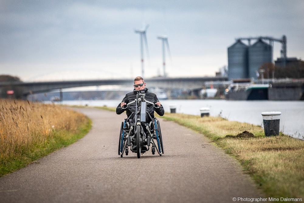 Sven Ongenae en ruta - Neodrives Stricker Handbike
