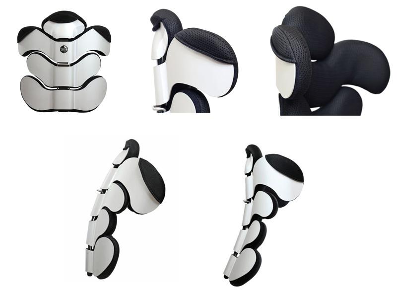 Respaldo postural Tarta Emys - compacto y flexible
